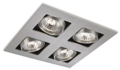 Firstlight 1504BS Brushed Steel Cube 4 Light Square Downlight
